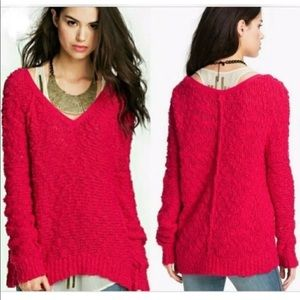 Free People Songbird Oversized Pullover Sweater S
